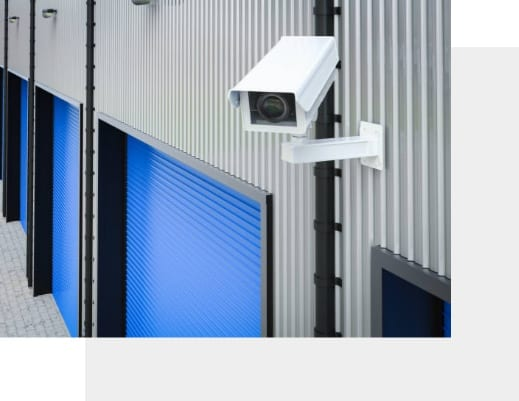 Bespoke cctv systems installed on wall of business