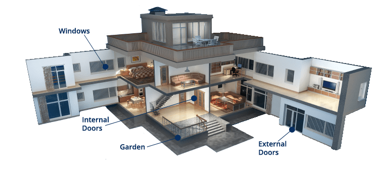 HOUSE cut out Home Security Systems Installers Retina 1