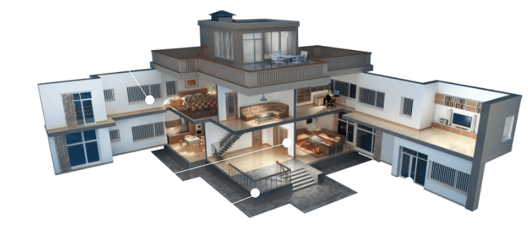 HOUSE cut out Home Security Systems Installers Retina