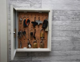 Picture of open high security Key Cabinets